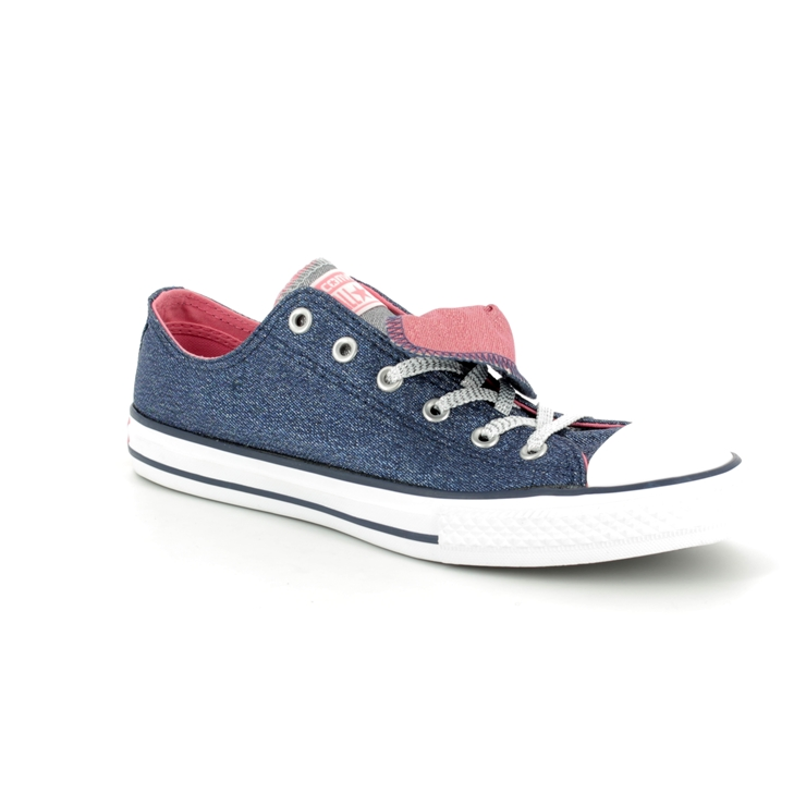 3e4c4e838c77 Converse Trainers - Navy - 658112C Chuck Taylor All Star Double Tongue OX  ...