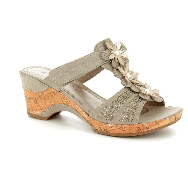 f30717fa20e0 Marco Tozzi Wedge Sandals - Taupe - 27213 20 341 LOZIM ...