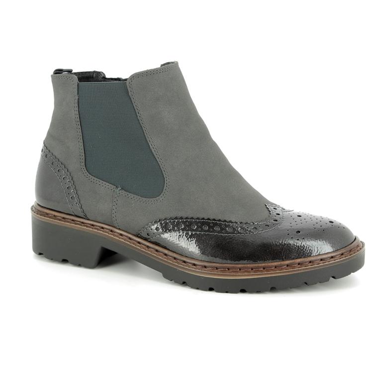 7a25321a473 Ara Chelsea Boots - Grey patent - 60004/75 PORTLAND BROGU ...
