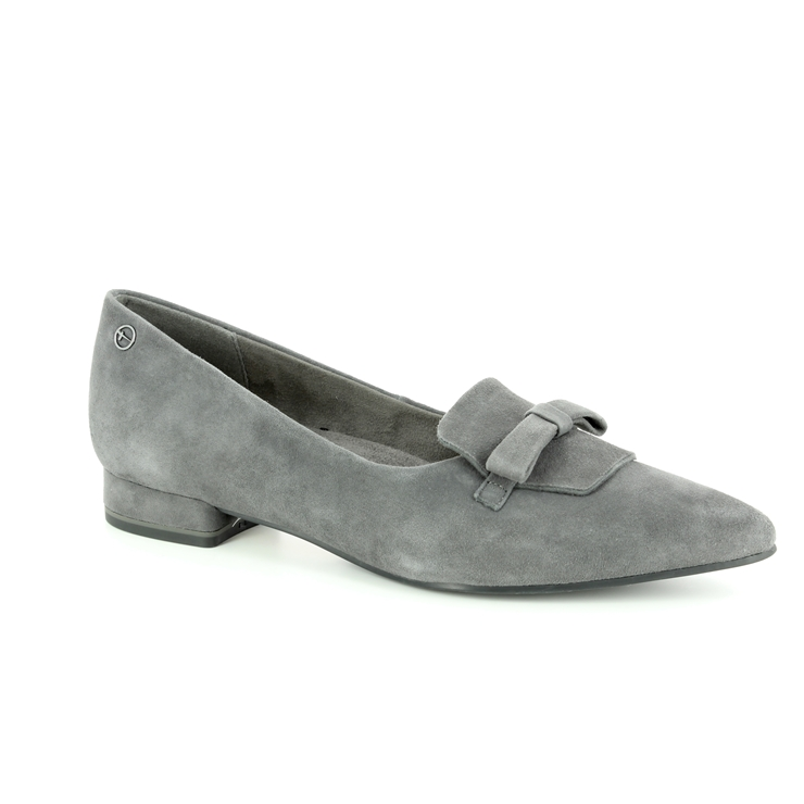 Tamaris Solace 24200 21 206 Grey suede heeled shoes