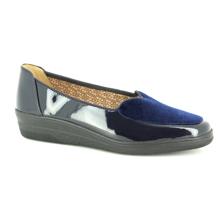 15a561eebf4a ... Gabor Wedge Shoes - Navy patent - 96.404.26 BLANCHE ...