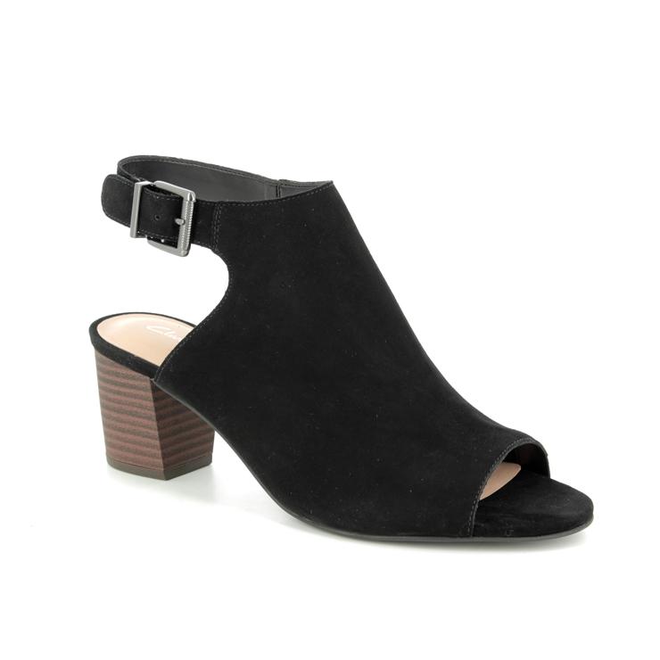 55bbf75fa720 Clarks Heeled Sandals - Black suede - 400994D DELORIA GIA ...