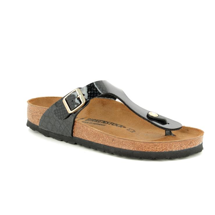 d9fac4cab052 Birkenstock Toe Post Sandals - Black patent - 1009114 GIZEH MAGIC SNAKE ...