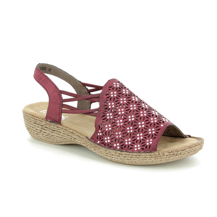 Rieker 658B2 35 Wine sandals