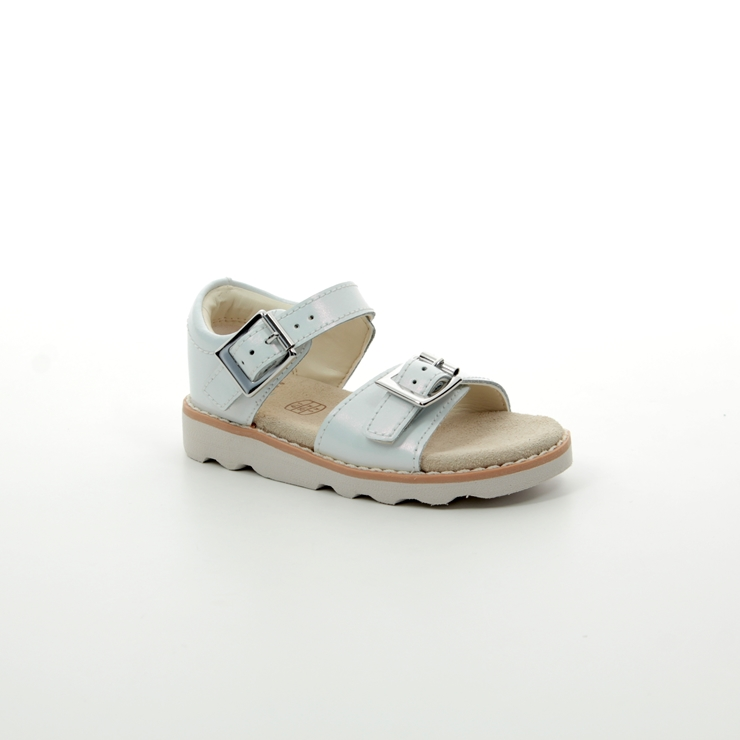 Details about CROWN BLOOM GIRLS CLARKS LEATHER BUCKLE SLINGBACK CASUAL SUMMER SANDALS SIZE