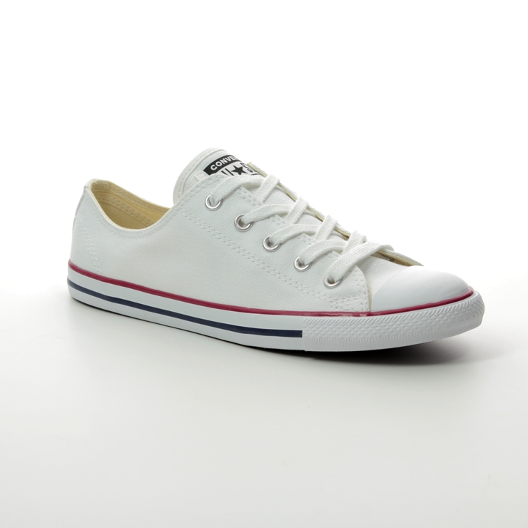 d9e6f0bdda81 Converse Trainers - White Red and Blue - 537204C ALL STAR DAINTY OX ...