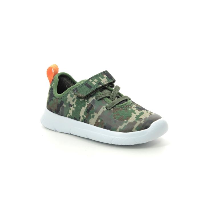 Chaussure enfant Vêtements et accessoires Boys Clarks Fashionable Trainers 'buzzed Fire'