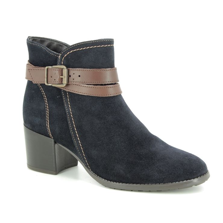 25059-23-831 Navy suede ankle boots