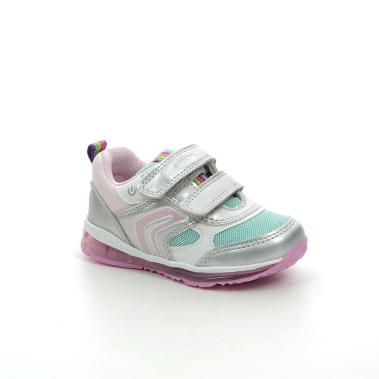 Acusación Detallado algas marinas  Geox Todo Baby Girl B0285B-C1W4A Silver multi trainers