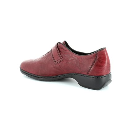 Rieker L3870-35 Red lacing shoes