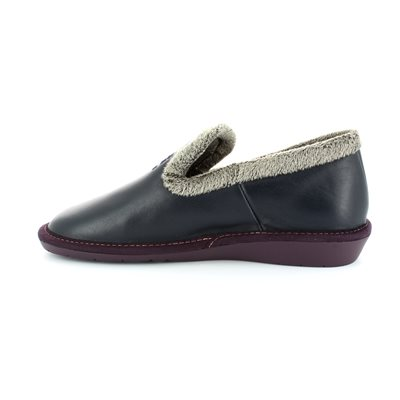 Nordikas Tabackin 305-4 Navy leather slipper mules