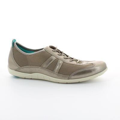 ECCO Bluma Lace Fab 230723-55294 Pewter lacing shoes