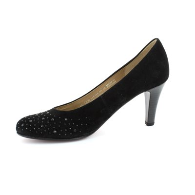 Gabor Opereve 25.212.17 Black suede high-heeled shoes