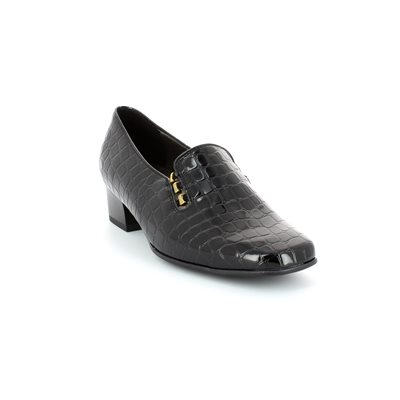 Ara Grazed 1241806-01 Black croc comfort shoes
