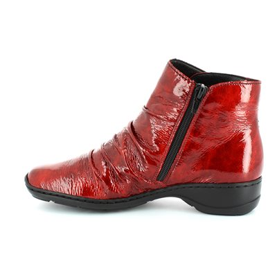 Rieker 78383-35 Red patent ankle boots