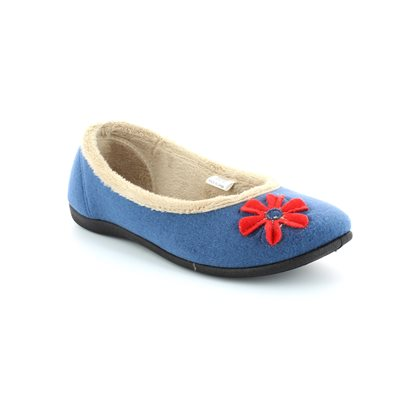 Padders Happy 464-54 Blue multi slippers