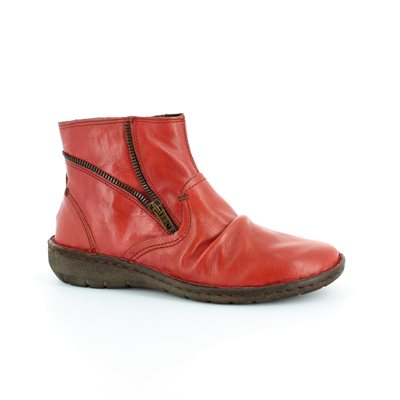 Relaxshoe Suffle 37517-80 Red ankle boots