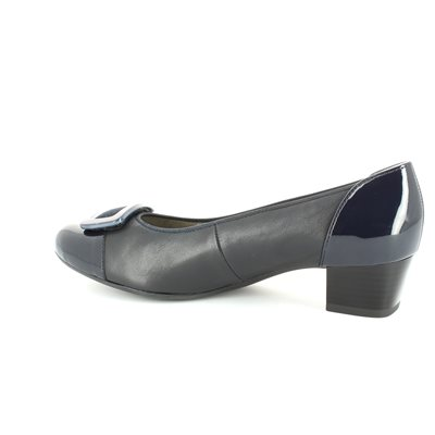 Ara Nizzakra 1235859-02 Navy patent heeled shoes