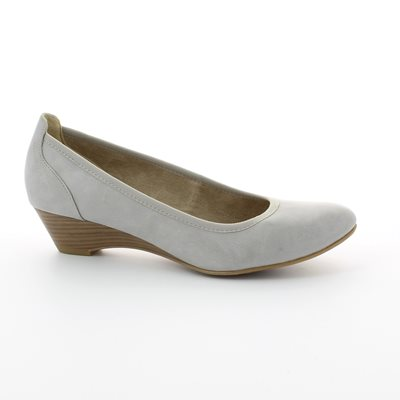 Tamaris 22304-204 Light Grey heeled shoes