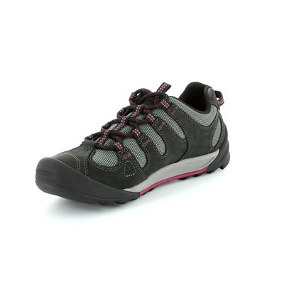 Clarks Outlay South Black multi lacing shoes