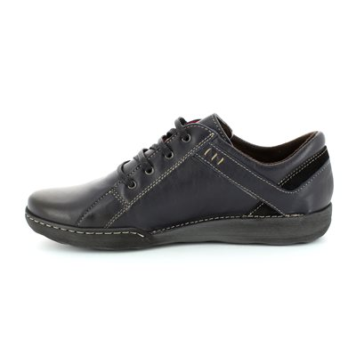 Relaxshoe Calypso 21512-47 Navy lacing shoes