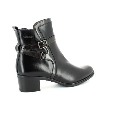 Wonders G4058-30 Black ankle boots