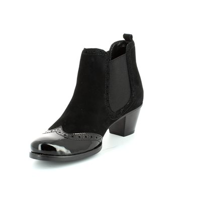 Relaxshoe Marzia 16010-13 Black patent/suede ankle boot