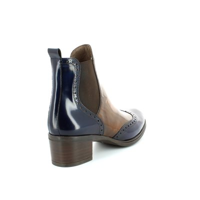 Wonders G4052-70 Navy-Tan ankle boots