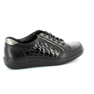 Padders Atom 240-43 Black croc comfort shoes