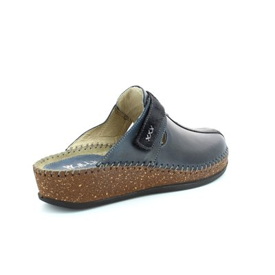 Walk in the City Sulivan 1124-16940 Navy slipper mules