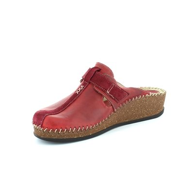 Walk in the City Sulivan 1124-16940 Dark Red slipper mu