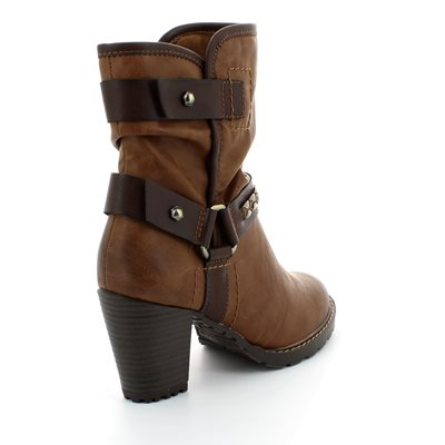 Tamaris Canesalapino 25445-381 Tan multi ankle boots