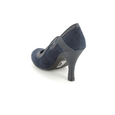 Ruby Shoo Issy 0881-87 Navy high-heeled shoes