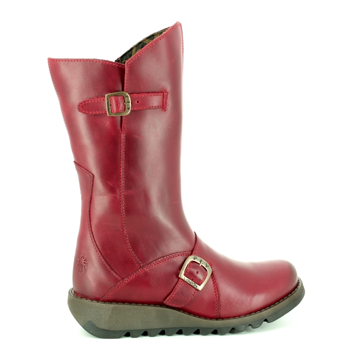 Fly London Mes 2 P142913-001 Red long boots