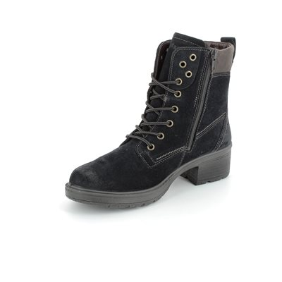 Legero Laurialac Gore 00554-80 Navy suede ankle boots