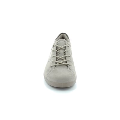 ECCO Also Softer 206503-02459 Beige nubuck lacing shoes