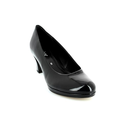 Gabor Figaro 41.260.77 Black patent high-heeled shoes