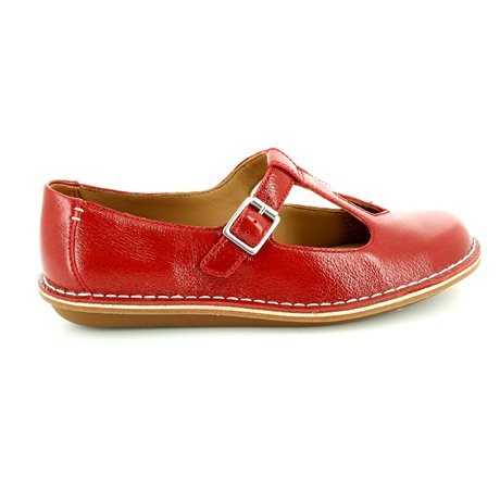 Clarks Tustin Talent Red comfort shoes
