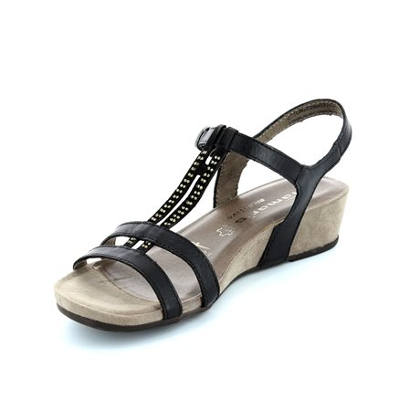 Tamaris 28205-001 Black sandals
