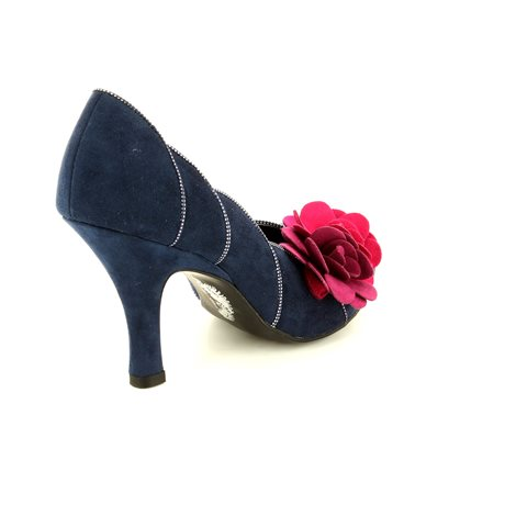 Ruby Shoo April 08897-70 Navy multi high-heeled shoes