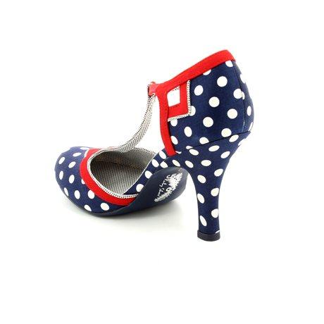 Ruby Shoo Hatty Polka Dot T Bar Heeled Shoes
