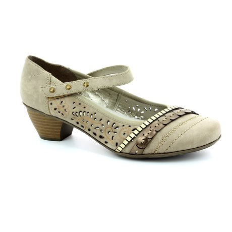 Rieker 47664-42 Light taupe heeled shoes