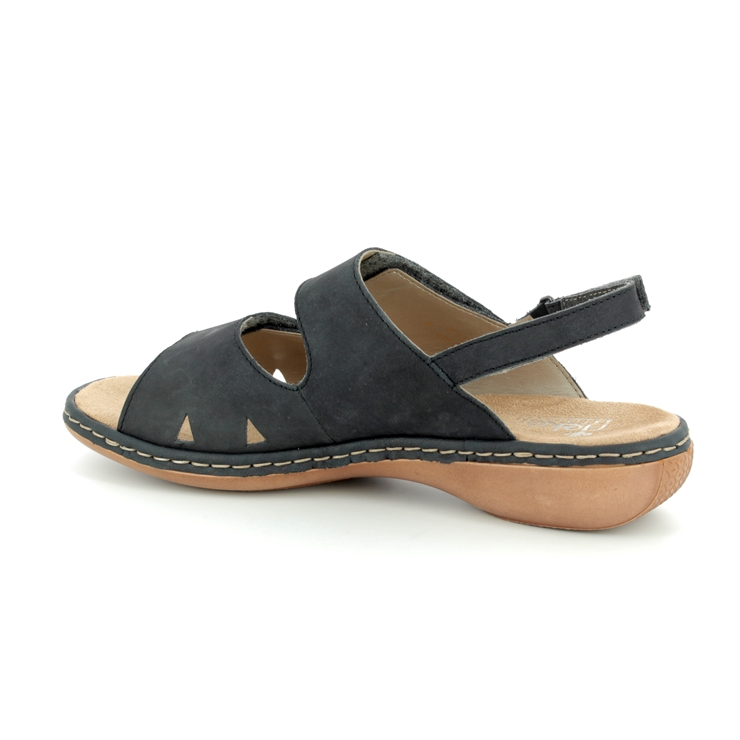 Rieker 65992-14 Navy nubuck sandals