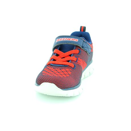 Skechers Mini Knit 95092 NVRD Navy-Red first shoes