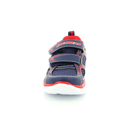 Skechers Mini Rush 95096 NVRD Navy-Red first shoes