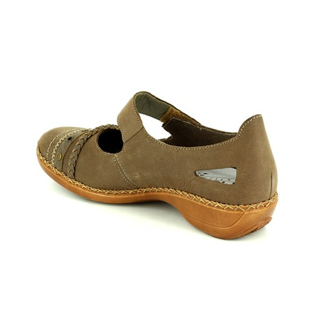 Rieker 41370-42 Taupe comfort shoes