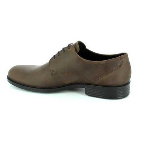 ECCO Harloden 634584-51869 Brown nubuck formal shoes