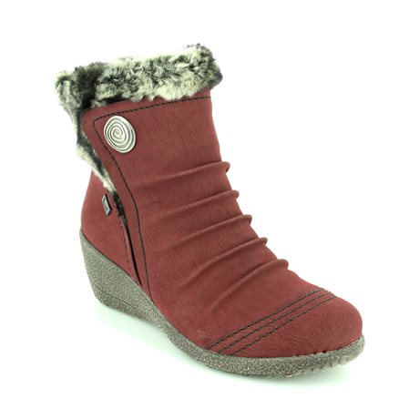 Rieker Y0363-35 Wine ankle boots