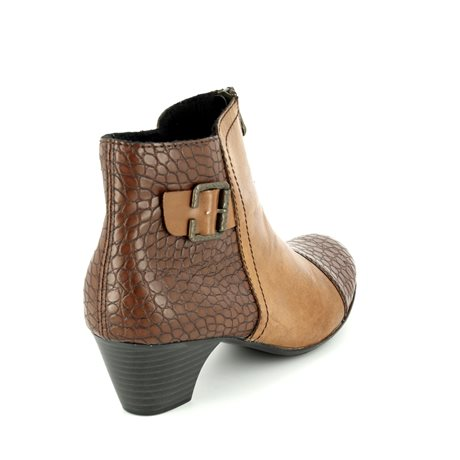 Rieker 70581-25 Tan multi ankle boots