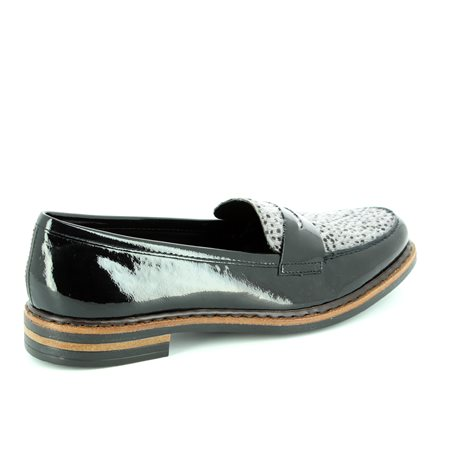 Rieker 50662-01 Black multi patent loafers